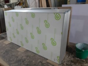 ceramic white board with aluminium frame